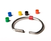 Cobra Key Ring Color Coded Bead Tags for Cable or Solid Key Rings - Pack of 50