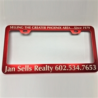 Personalized Anodized Aluminum License Plate Frames