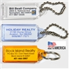 Small Transparent Plastic Key Tags - 50 Per Bag