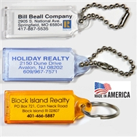 Small Transparent Plastic Key Tags