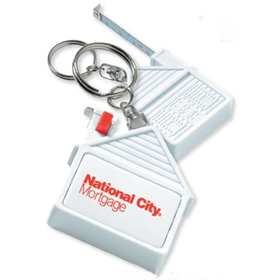 House Measuring Tape Key Chain