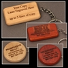 Engraved Wood Key Chains