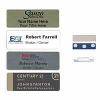 1x3 Full Color Round Corner Aluminum Name Badge