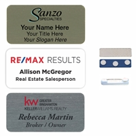 1.5x3 Full Color Round Corner Aluminum Name Badge