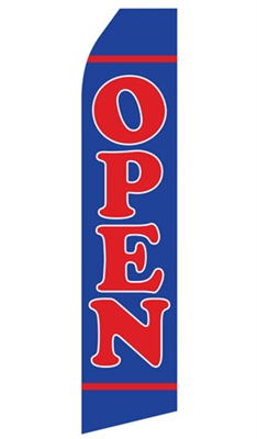 Econo 14 Foot Feather Flag - OPEN in Blue