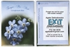 Blue Forget Me Not Themed Custom Printed Packets