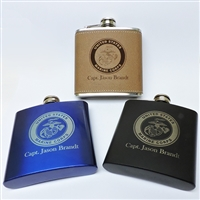 Engraved 6 oz. Stainless Steel Flask