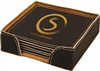 Black/Gold Square Coasters Set of 6
