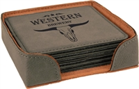Gray Square Coasters Set of 6