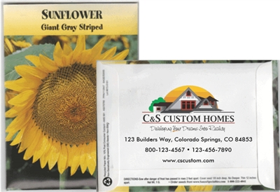 Giant Sunflower Custom Printed Seed Packets
