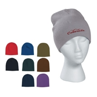 100% Acrylic Embroidered Knit Beanie Cap