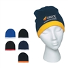 Custom Embroidered Warm Beanie Cap with Stripe