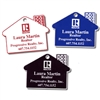 House Shaped Laser Engraved Key Tags