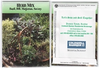 Herb Mix Personalized Seed Packets