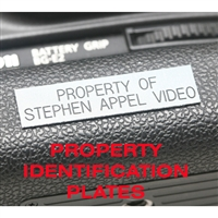 Property Identification Plates