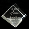 Engraved Crystal Paperweight