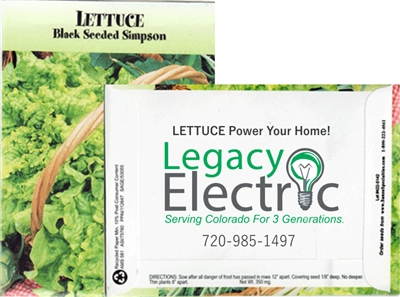 Lettuce Personalized Seed Packets
