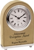Light Brown Arch Leatherette Desk Clock