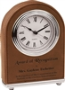 Dark Brown Arch Leatherette Desk Clock