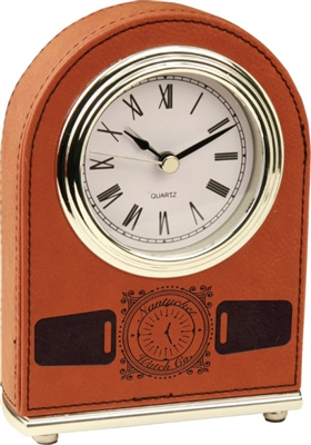 Rawhide Arch Leatherette Desk Clock