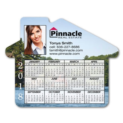 House Shaped Calendar Magnet