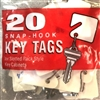 MMF Snap Hook Numbered Key Tags