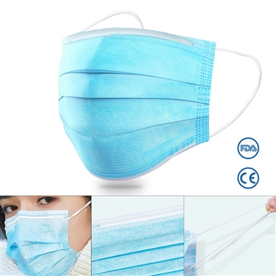 Disposable Personal Protective Face Mask -50 Pack