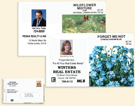Personalized mailable seed packets colourmoves
