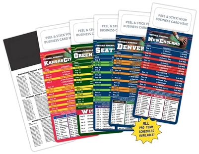 Add Your Business Card NFL Schedule Magnet