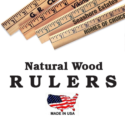 Personalized Wood Rulers 12 Inch