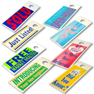 Real Estate Advertising Stock Door Hangers