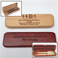Wood Pen and Pencil Box Set