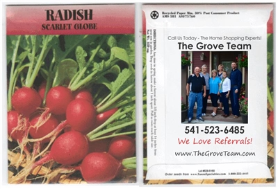 Radish Personalized Seed Packets