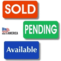 Sold, Pending & Available Stickers