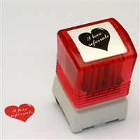 Self Inking Heart Shaped Stamp