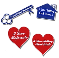 Real Estate Slogan Pins
