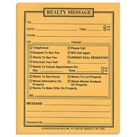 Real Estate Message Pads