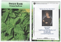 Sweet Basil Custom Printed Seed Packets