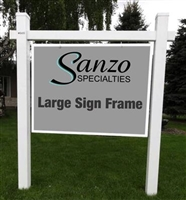 Large PVC Hanging Sign Frame