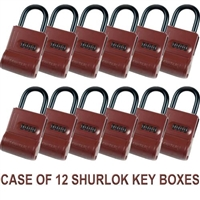 ShurLok Lock Box - Red - Case of 12