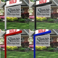Modern Aluminum Real Estate Sign Post