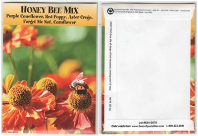 Honey Bee Mix Flower Seed Packets - Blank
