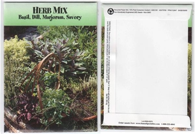 Herb Mix Seed Packets Blank