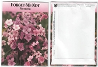 Pink Forget Me Not Flower Seed Packets Blank