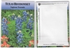 Texas Bluebonnet Flower Seed Packets Blank