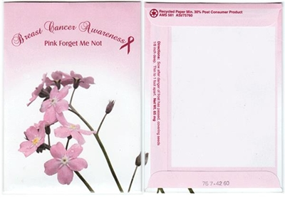 Breast Cancer Awareness Seed Packets Blank