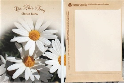 On This Day Themed Shasta Daisy Seed Packets Blank