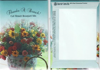 Thanks A Bunch! Cut Flower Bouquet Mix Seed Packets