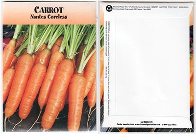 Carrot Vegetable Seed Packets - Blank