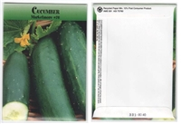 Cucumber Vegetable Seed Packets - Blank